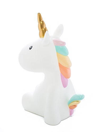 Dhink Unicorn Night Light for Kids Bedroom Rechargeable Battery with Timer Dimmable (Pastel)