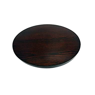 Hongville Dia Espresso Smooth Swivel Spinning Tray Lazy Susan, 21  L