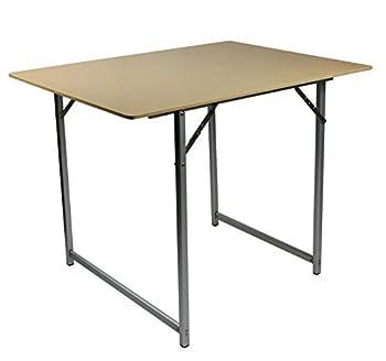 Cao Table Ultra légère Camping, Beige, 90 x 70 x 70 cm (dépliée) -90 x 70 x 3,5 cm (pliée)