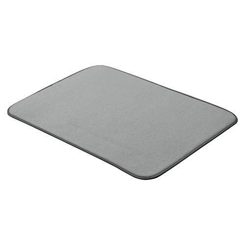 AmazonBasics - Esterilla de secado, 48 x 61 cm, color carbón, 2 unidades