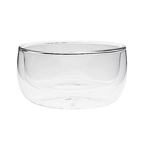 SIMEISM cCereal Bowl de doble pared de vidrio, ensalada de frutas, fideos, arroz, fruta, helado, tazón de desayuno y cereales creativo