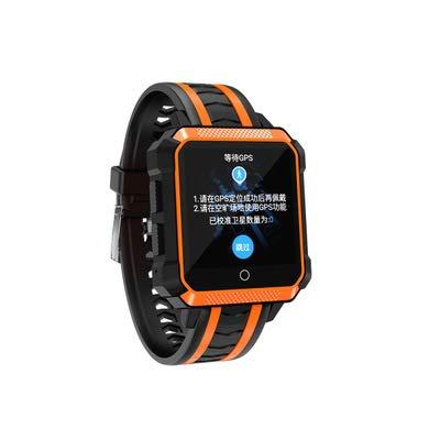 CMYY Nieuwe slimme horloge positionering hartslag sport mode horloge applicatie software gratis downloaden drie verdediging machine, size, ORANJE