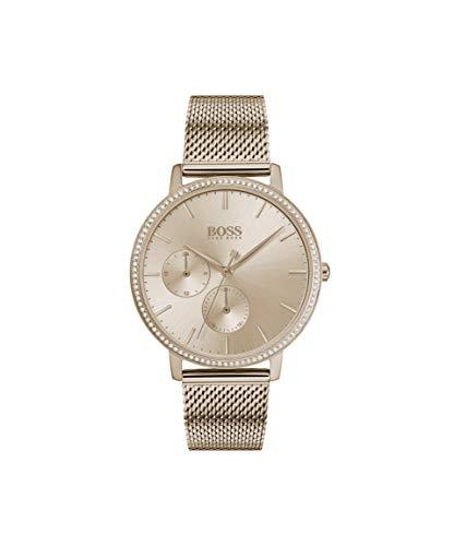 Hugo Boss Damen Multi Dial Quartz Uhr mit Edelstahl Armband 1502519