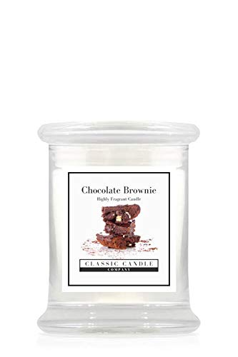 Classic Candle Company Chocolade Brownie Midi Jar, wit