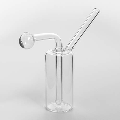 Silent Glass Bong Pipe - Ölglas Pipe Mini Shisha Rauchfilter Glas Ölbrenner Wasserpfeifen Perkolator Bongs (klar 12 cm)