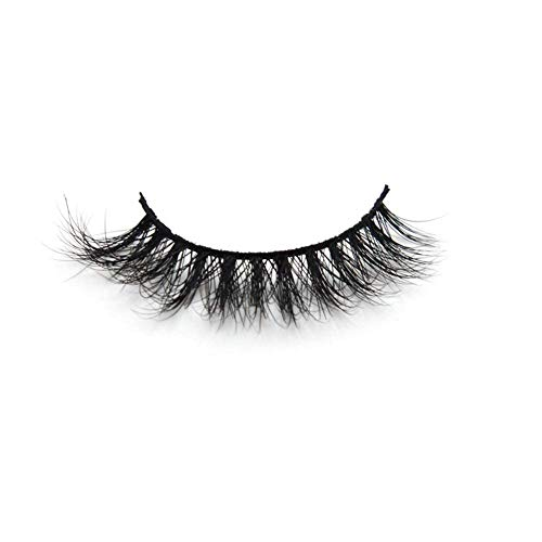 Arison 3D Mink Lashes False Fake Eyelashes Wispy Strips Silk Reusable Handmade Real Long Fur Soft Dramatic Natural Look 1 Pair Package for Women Makeup(3D001)