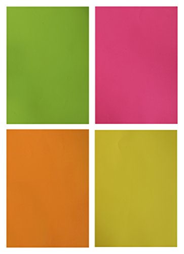 IMPRINT A4 Fluorescent Sheet (Multi Colors, Pack of 50)