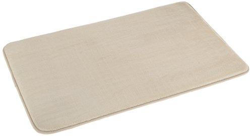 Amazon Basics Tapis de bain en mousse à mémoire de forme Beige 46 x 71 cm