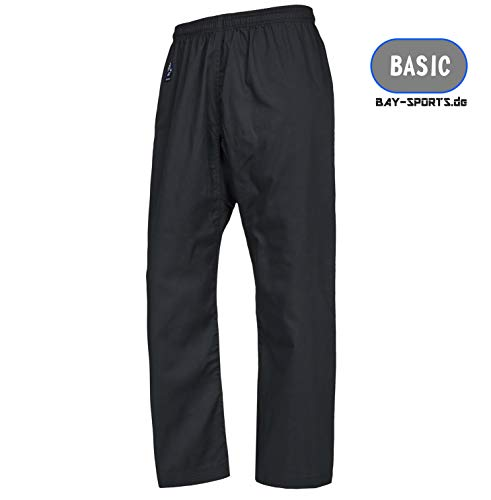 Bay Basic Hose schwarz, Karatehose, (180 - L)