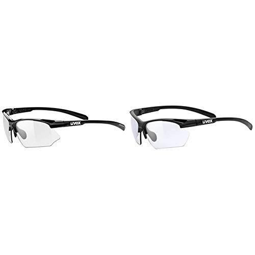 Uvex Unisex– Erwachsene Sportstyle 802 Vario Sportbrille, Black/Smoke + Black Mat, Einheitsgröße