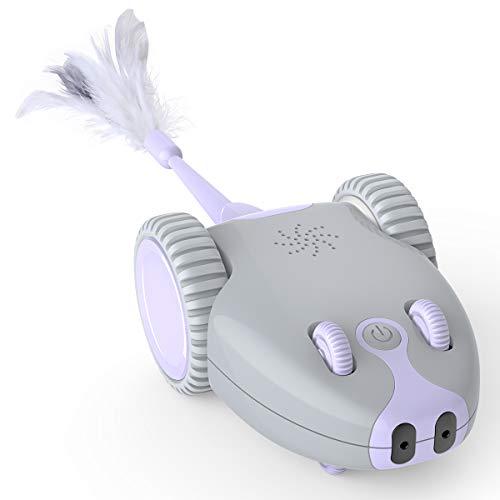 DADYPET Juguete para Gatos Robótico Interactivo,Forma de Mouse Movimiento...