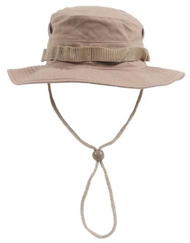 GEAR Boonie Hat Chapeau Brousse Jungle US Army Commando Trooper - Coloris Desert Coyote - Taille XLarge - Airsoft - Paintball - Chasse - Pêche - Randonnée - Outdoor
