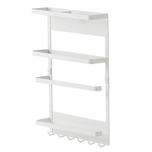 Discover Bargain LOCGFF Wall Mounted Storage Rack Organizer, with 4-Shelf Shelving Storage Unit and ...
