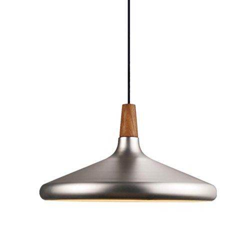 Éclairage industriel moderne en métal argenté, ombre, loft luminaire rétro, abat-jours rétro, lampe Shade, Loft, café, bar, cuisine, lustre en bois