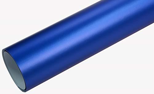 Neoxxim 8€/m2 Premium - Auto Folie - Chrom MATT Blau Ice 50 x 150 cm - blasenfrei mit Luftkanälen Klebefolie Selbstklebefolie selbstklebend flexibel