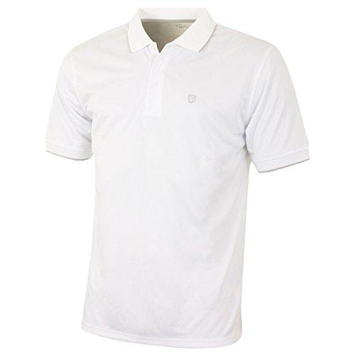 Island Green Golf IGTS1700 Polo de Sport Respirant pour Homme avec col contrasté Blanc Taille XXL