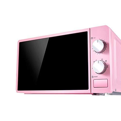 PLEASUR Horno de microondas Multifuncional pequeño de 20L 220V Calentador de Alimentos Giratorio mecánico Cocina para cocinar al Vapor/Calentar/hervir, Rosa