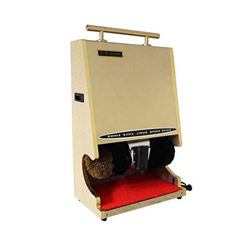 FHKBK Máquina pulidora de Zapatos Pulidora de Zapatos Pesado Tipo Piso con apoyabrazos de Mano Cepillo esférico Suave Pasillo de Hotel de la máquina de inducción automática para Uso domé