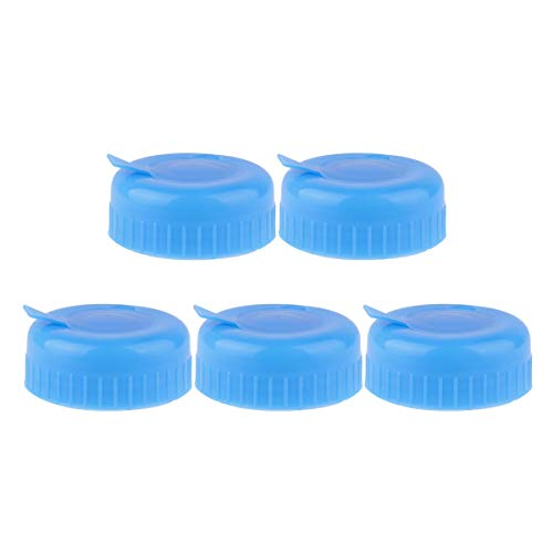 iixpin 5Pcs Blau Wasserspender deckel Gallon Trinkwasser Flasche Schraube auf Cap Ersatz Anti Splash Lids Blau One Size