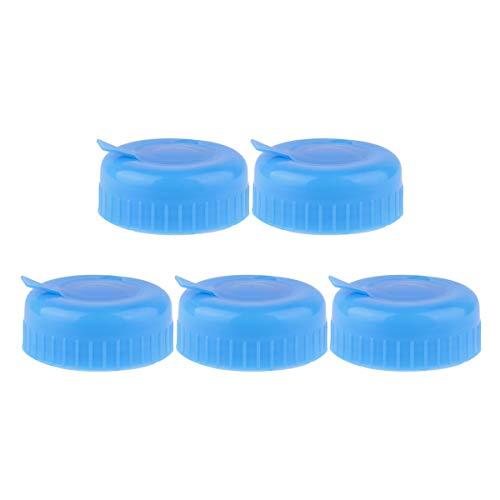 Agoky 5Pcs Wiederverwendbare Deckel Kappe für Wasserspender Tank Wasserflasche Clip On Verschluss für 55mm 3-5 Gallonen Wasserkrug Blau B One Size