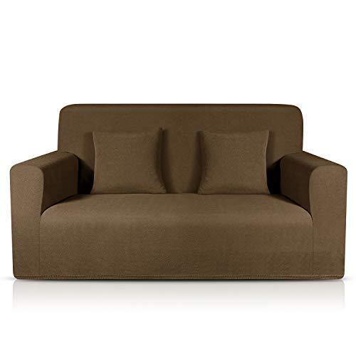 TAOCOCO Sofa Überwürfe Jacquard Sofabezug Elastische Stretch Spandex Couchbezug Sofahusse Sofa Abdeckung in Verschiedene Größe und Farbe (Diamantgitter Braun, 2-sitzer(139-175cm))