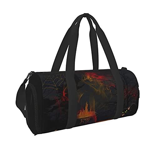 Tarjeta de felicitación de Halloween, bolsa de viaje portátil, impermeable, de gran capacidad, ideal para hombres y mujeres