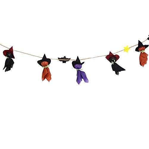 MED Decoraciones de Halloween La Bandera Bar Puntales Ghost