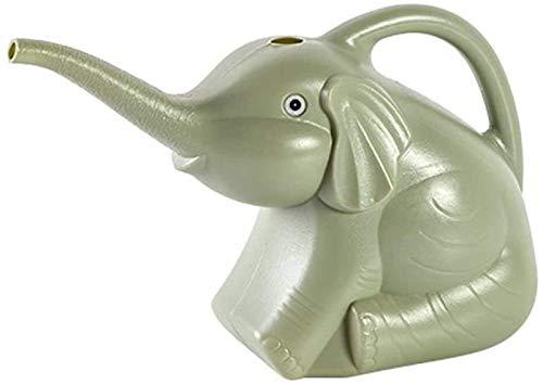 FLYAND Sprinkle Kopf Haushalt lang das Wasser im Munde personalisierten kann Elefanten Form Gießkanne Gartenarbeit Bewässerung Gadget Pflanze Gießkanne (Farbe: Grau) (Farbe : Chrome)