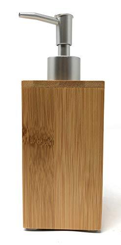 Space Home - Seifenspender - Nachfüllbarer Seifendosierer für Flüssigseife und Lotion - Bambus