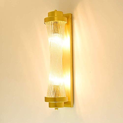 nakw88 Lámpara de Pared Lámpara de Pared Decorativa LED de Pared de TV para Sala de Estar, lámpara de deformación con vástago de Vidrio Dorado Creativo, decoración de Dormitorio de Hotel