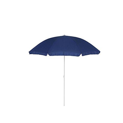greemotion Sonnenschirm 2m mit UV-Schutz - Balkonschirm in Blau-Weiß - Gartenschirm knickbar - Terrassenschirm rund - Outdoor-Schirm für Balkon, Terrasse & Garten