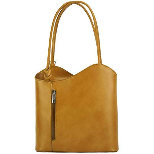 FLORENCE LEATHER MARKET Made in Italy - Borsa donna color cuoio a spalla in pelle 28x9x29 cm - Cloe