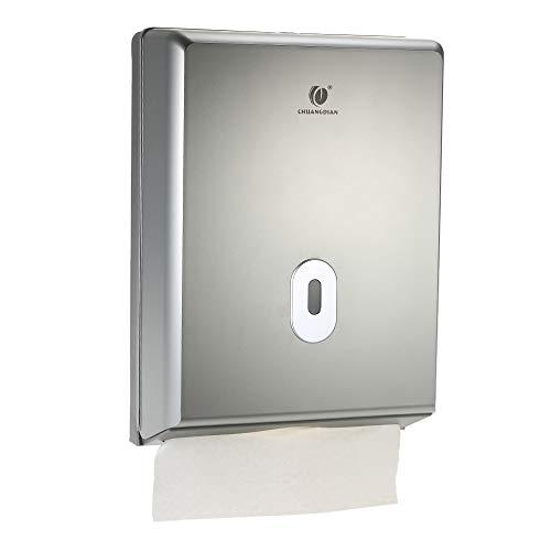 Decdeal, dispenser da parete CHUANGDIAN per salviette di carta, di lusso, per hotel, casa, bagno Silver