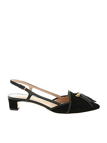 Tod's Luxury Fashion Damen XXW36B0AS90D8WB999 Schwarz Leder Sandalen | Jahreszeit Outlet