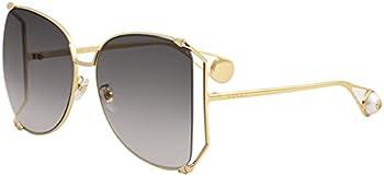Gucci Grey Gradient Square Sunglasses (GG0252S-002 63)