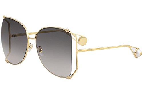 Sonnenbrillen Gucci GG0252S GOLD/GREY SHADED Damenbrillen