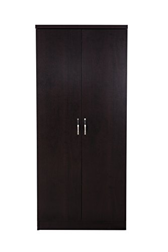 DeckUp Engineered Wood Matte Finish Uniti 2-Door Wardrobe (Dark Wenge)