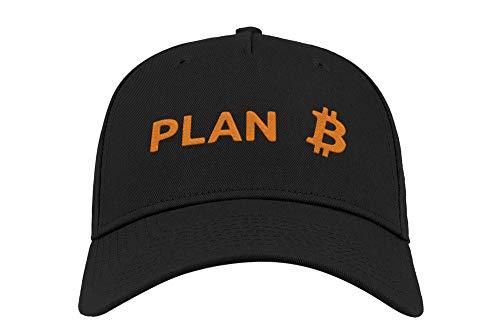 Plan B Bitcoin Cryptocurrency Funny Mining Bestickt Gebogene Visier Unisex Atmungsaktiv Cap Mütze Baseball Kappe Fullcap Trucker Komfortabel Sports Top Schwarz