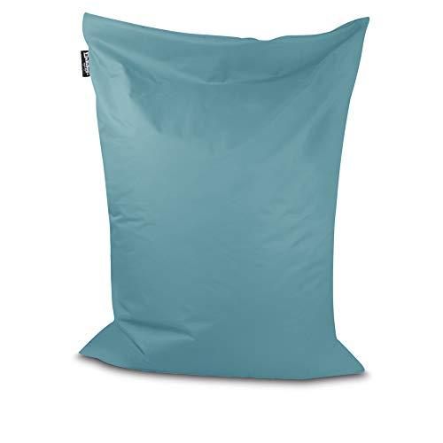 Sitzsack Bodenkissen Indoor Outdoor Riesensitzsack Größen & Farben wählbar Kinder Bean Bag Erwachsene Wasserabweisend Schmutzabweisend (Hellblau-150x100 cm)