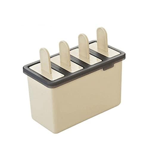 douzxc 4 rejilla DIY paleta de helado clásico bandeja de molde de hielo congelado molde de paleta de helado de cocina herramientas de cocina moldes de paleta
