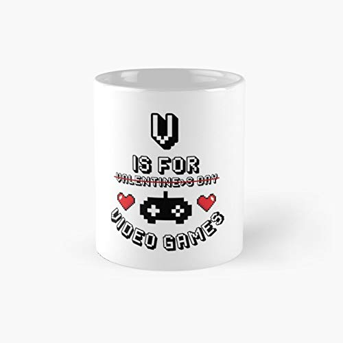 V Is For Video Games - Valentine's Day Classic Mug 11 Oz.