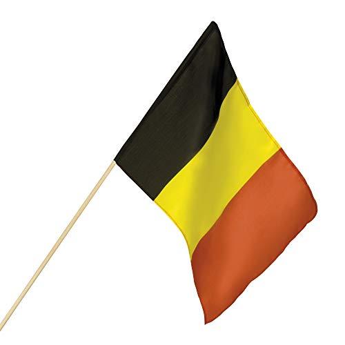 1 Flagge * Belgien * in Schwarz-Gelb-Rot als Dekoration für eine Länderparty | Fahne Mottoparty Deko Belgium Nation EM WM Eurovision Song Contest