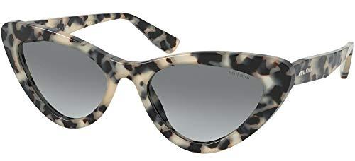Miu Miu MU 01VS KAD3M1 Grey Havana Plastic Butterfly Sunglasses Grey Gradient Lens