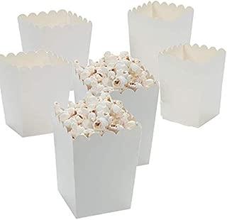 Fun Express Mini White Popcorn Boxes (48 Pack) 3 X 3 X 4. Paper