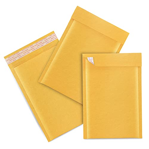 Bubble Mailers 4x8 Kraft Shipping Padded Envelopes Self Seal Cushioned Mailer Natural for Mailing/Shipping/Packaging by Channel Print 10Pack