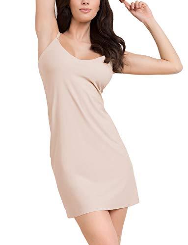 Julimex Damen Unterock Musterlos Lingerie Soft & Smooth Slip, Beige,XL