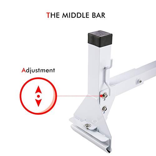 AA-Racks Model AX27 Aluminum Square Van Ladder Roof Racks with Adjustable Middle Bar Rain-Gutter Mount Racks - 3 Bar