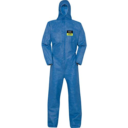 Uvex 5/6 Air Chemikalien-Schutzanzug - Blauer Einweg-Overall - Partikeldicht L