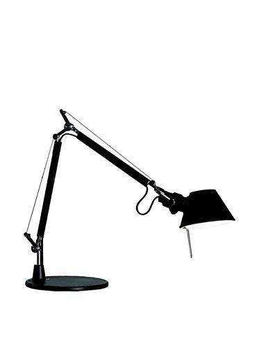 Artemide Tolomeo Micro Tischlampe mit Fuss, Länge 45 Höhe 37 max 73 cm, schwarz