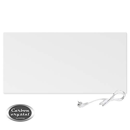 VIESTA H700 Calefacción por infrarrojos panel calefactor Carbon Crystal 700 Watt, ultraplano, blanco